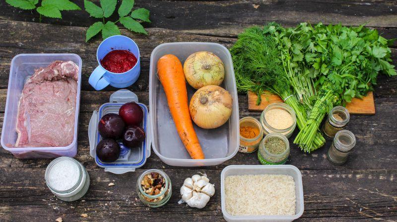 Ингредиенты для суп Харчо