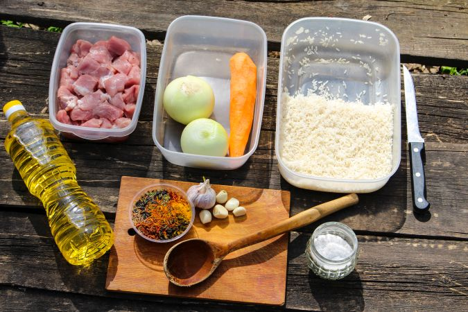 Ингредиенты плов свинина