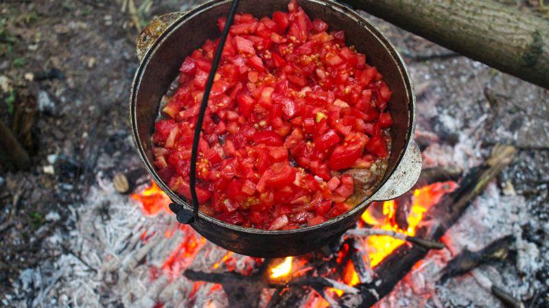 Чахохбили с помидорами фото
