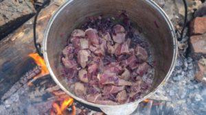 Чили Кон Карне обжариваем мясо