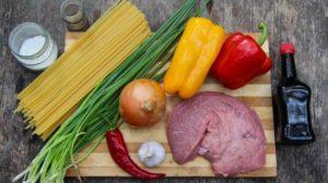 Ингредиенты для приготовления удон