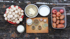 Грибной суп из шампиньонов ингредиенты