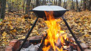 обжариваем ингредиенты удон лапши